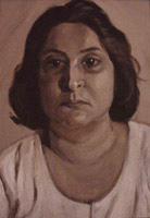 Portrait of Ameena in Sepia